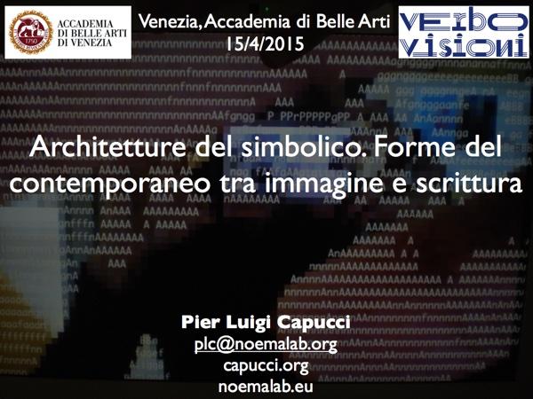 Architetture del simbolico tra immagine e testo