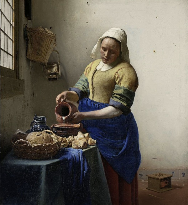 Johannes Vermeer, The Milkmaid, oil on canvas, c. 1660